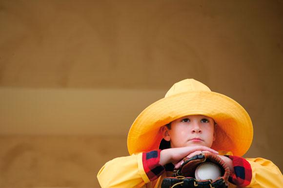 outdoor portrait in hat