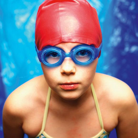 portrait in swimming cap