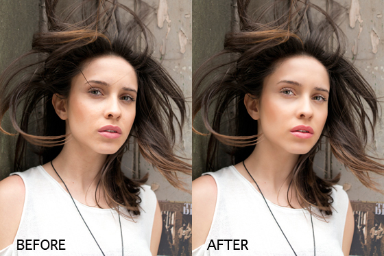 Portrait retouching in photoshop for Image miroir photoshop