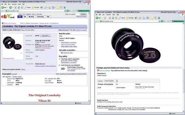 Shooting for eBay - eBay Listing