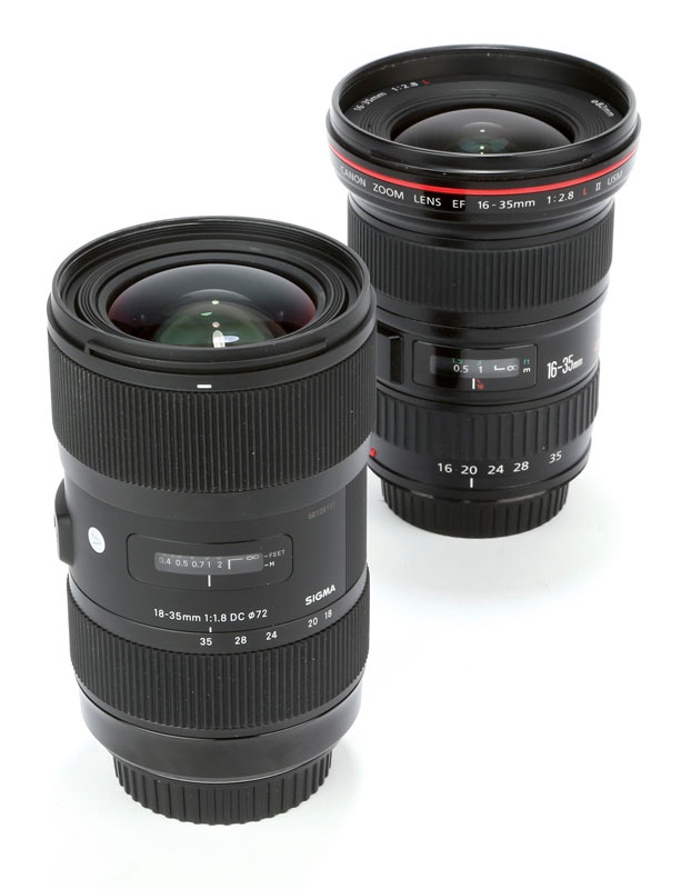 Sigma 18-35mm f/1.8 DC HSM zoom lens Vs. Canon EF 16-35mm f/2.8L II ...