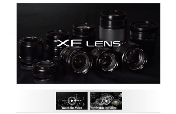 Fujifilm XF lenses video