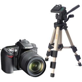 Camera and tripod