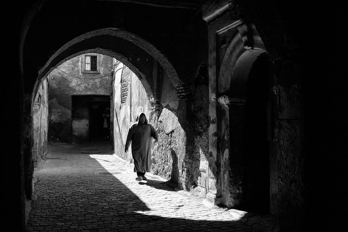 The kasbah marrakech morocco high contrast scenes are well suited to black