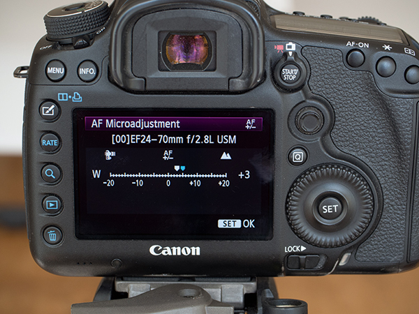Image result for Adjust fine-angle autofocus on Canon cameras