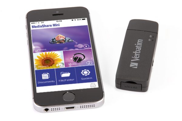 verbatim mediashare wireless mini with phone
