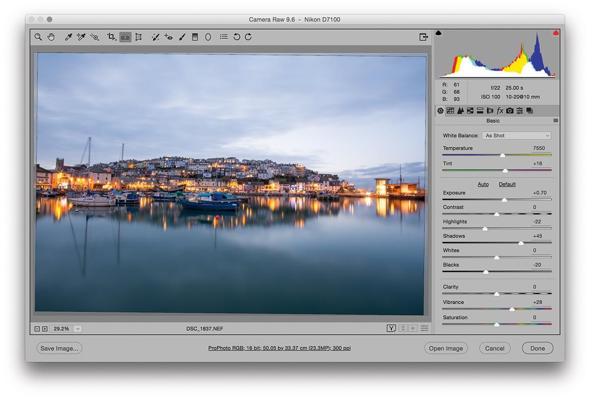 Photo editing masterclass: How to balance sky and sea brightness