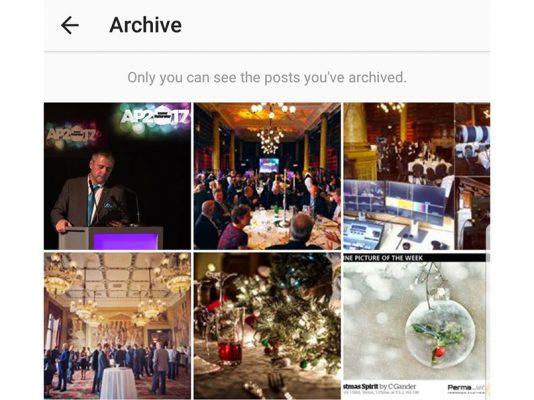 Instagram archive feature explained