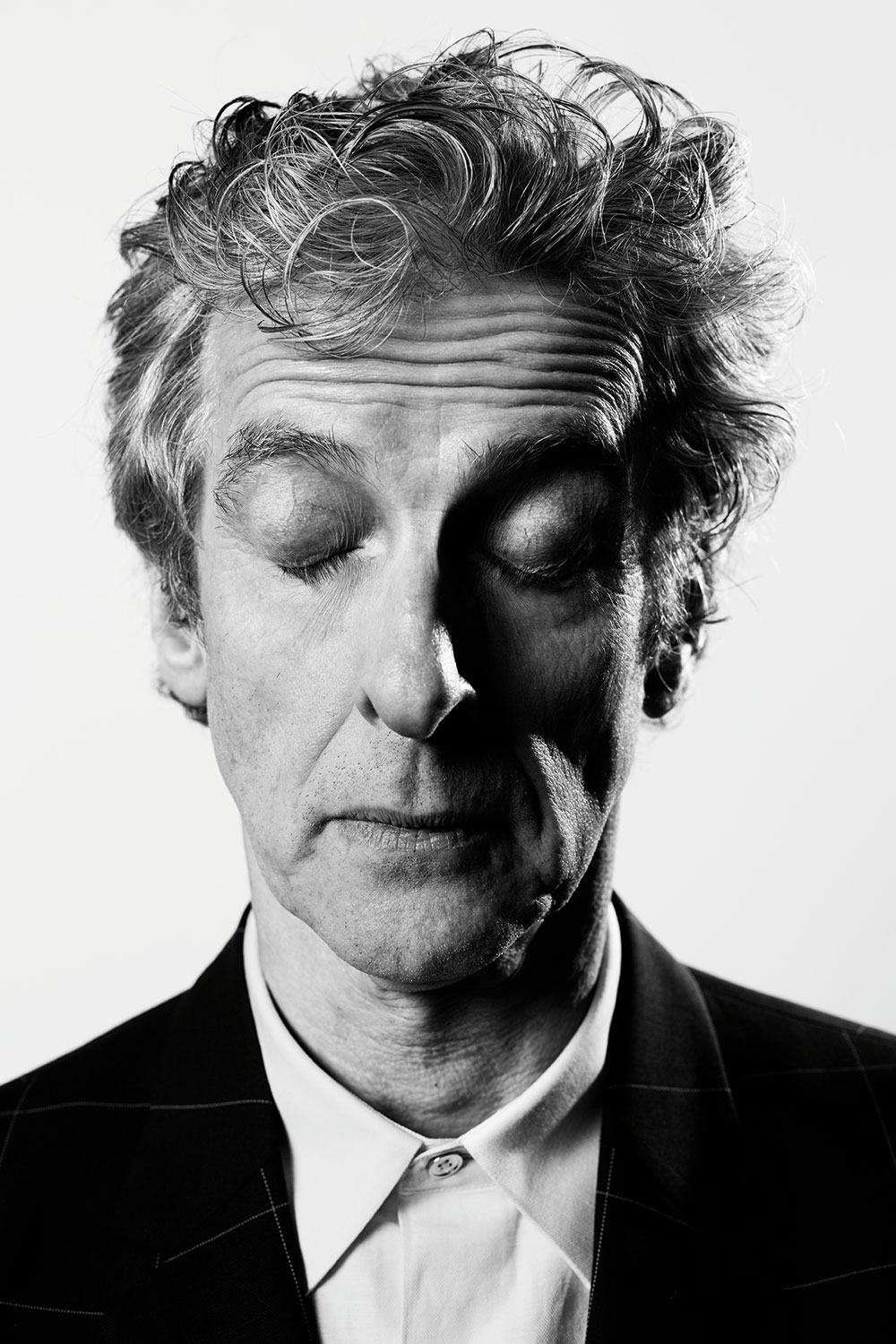 Peter capaldi with eyes shut