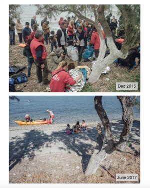 Fascinating before and after images of refugee crisis epicentre