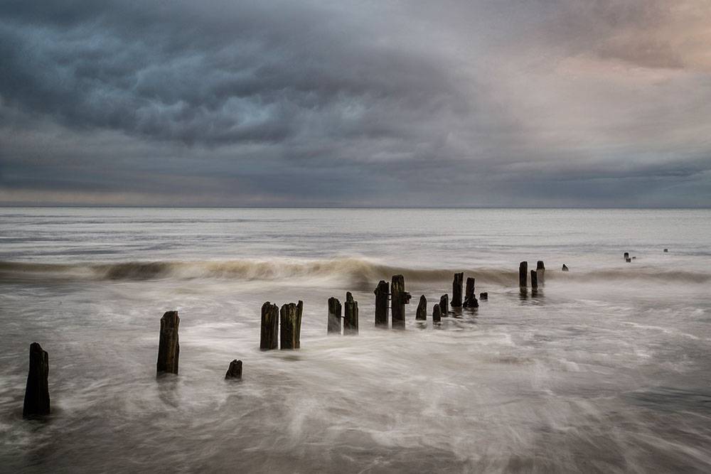 Groynes at Sandsend, North Yorkshire