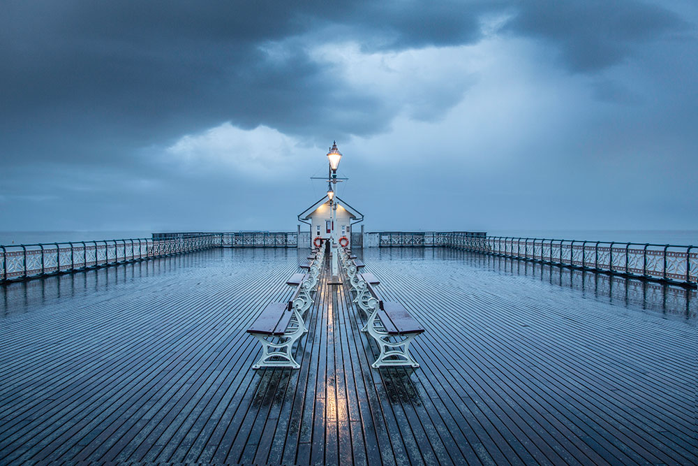 Penarth Pier in rain
