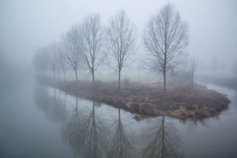 River Stour in mist