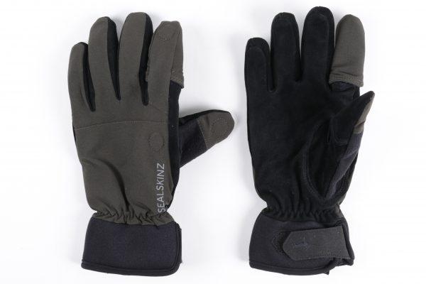 Dark Olive // Grey // XL Sealskinz Ultra Grip Gloves