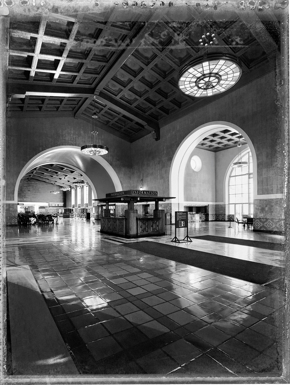 Lost in LA Union Station II Beautiful Polaroids of LA by Christopher Thomas