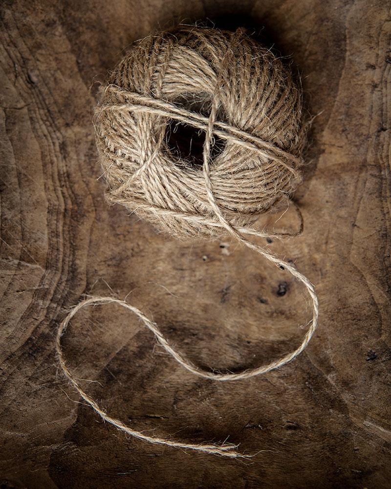 still-life ball of string