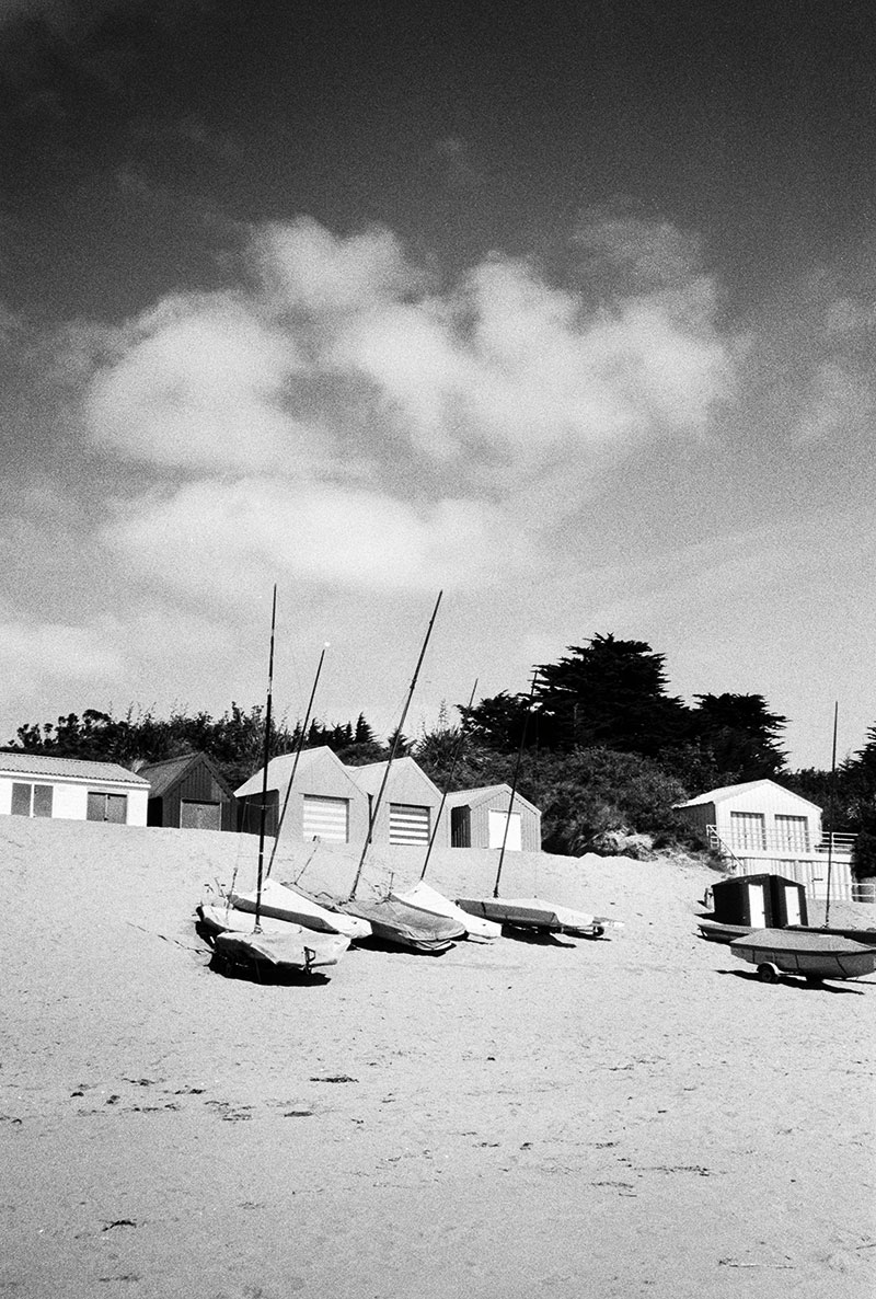 Home processing beach huts