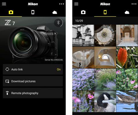 Nikon Z7 Snapbridge