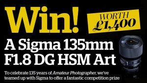 Win a stunning Sigma 135mm f/1.8 DG HSM Art telephoto prime lens worth £1400