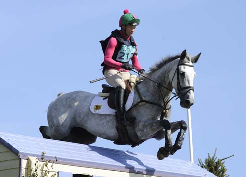 Lauren Shannon riding Gentel Lux at Blenheim Horse Trials