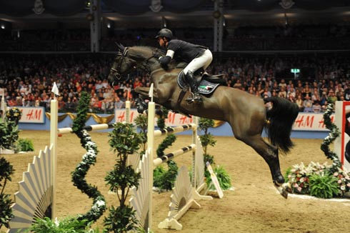 Ben Maher riding Tripple X at Olympia