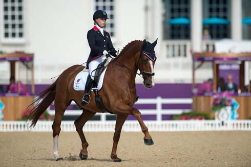 Sophie Wells rides Pinocchio in London 2012 Paralympic Games freestyle