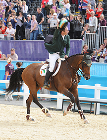 Cian O'Connor and Blue Loyd 12 winning bronze at London 2012 Olympics