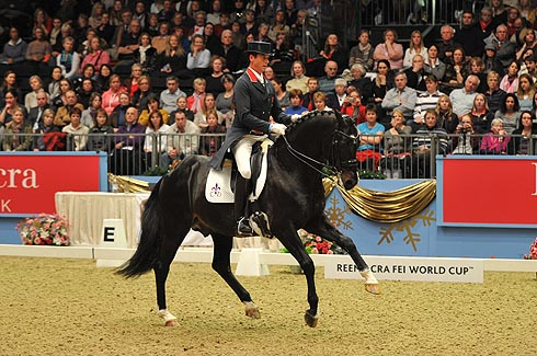 Carl Hester riding Uthopia at Olympia Horse Show 2011