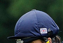 Union flag on hat