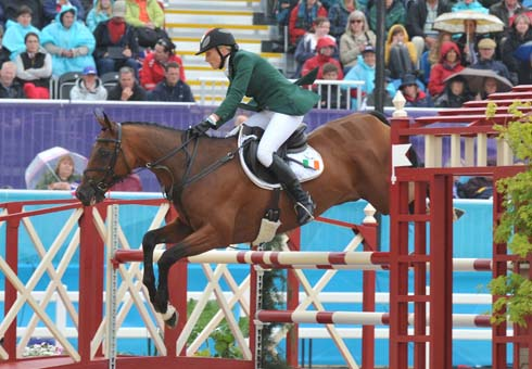 Aoife Clark riding Master Crusoe at the London 2012 Olympic Games
