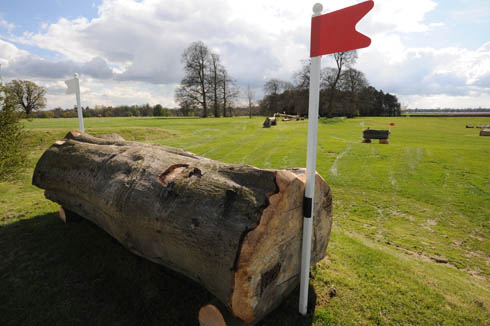 Badminton Horse Trials 2013 - big log into quarry