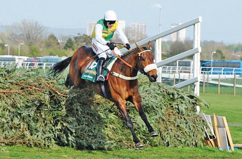 Jason Maguire on Ballabriggs wins the Grand National
