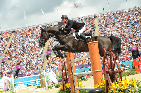 Ben Maher riding Tripple X III at the London Olympic Games