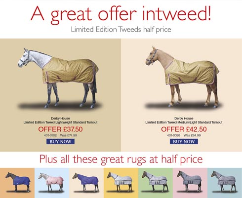 Half Price Tweed Turnouts From Derby House Promotion