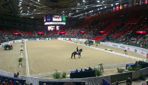 Edward Gal in the arena at Gothenburg