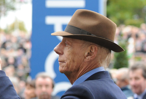 Sir Henry Cecil at Champions Day at Ascot on 20th October 2012