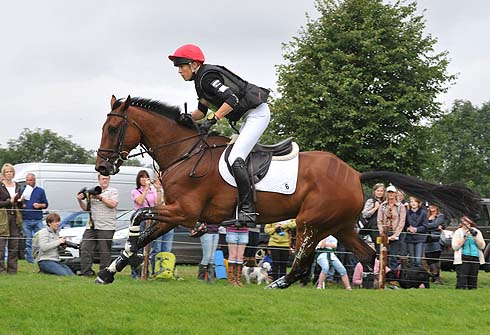 Lucy Jackson and Willy Do at Burghley Horse Trials 2012