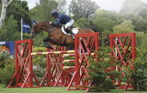 Geoff Billington riding Uppercut 11 at Royal Internaional Horse Show at Hickstead