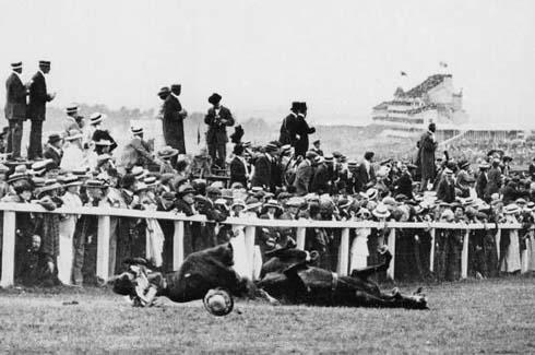 suffragette Emily Wilding Davison was killed in the 1913 Derby