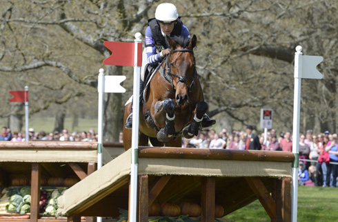 Aoife Clark and Master Crusoe at Badminton 2013
