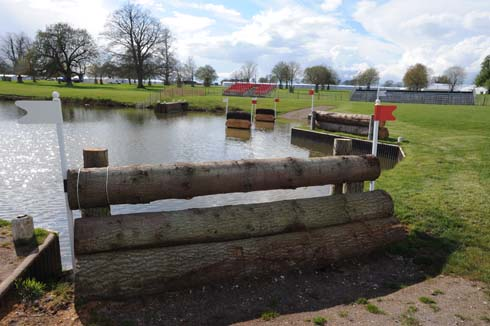The Lake fences at Badminton Horse Trials 2013