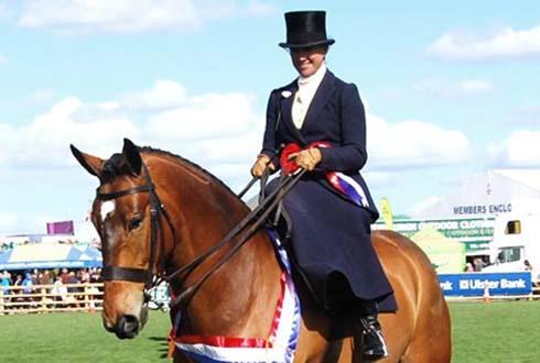 Side saddle at Balmoral Show