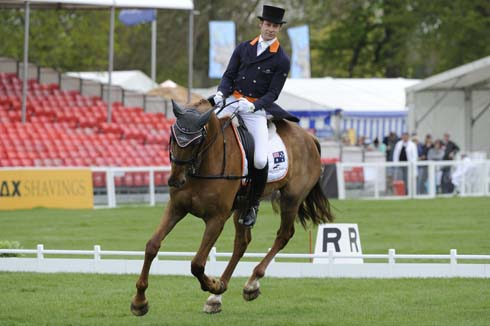 Christopher Burton (AUS) riding Holstein Park Leilani at the Dressage of The Mitsubishi Motors Badminton Horse Trials