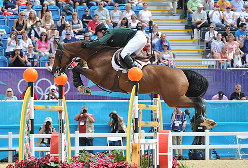Cian O'Connor riding Blue Loyd 12 at the London 2012 Olympic Games