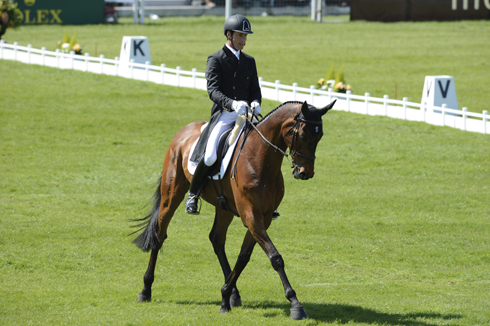 Dirk Schrade and King Artus at Badminton Horse Trials 2013