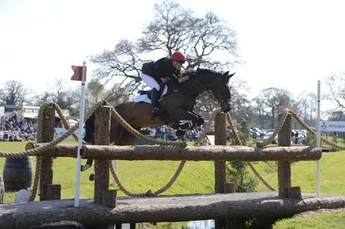 LucyJackson and Animator II clear the footbridge at Badminton Horse Trials