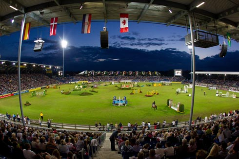 The view from the stands at Aachen