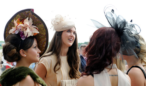 Epsom racegoers at the Derby