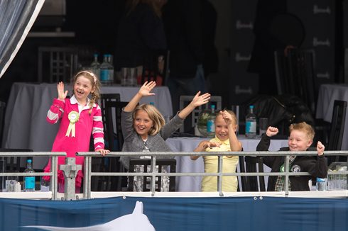 Young fans at the Global Champions Tour in London