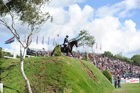 Tim Davies and Salome II at the Hickstead Derby Bank